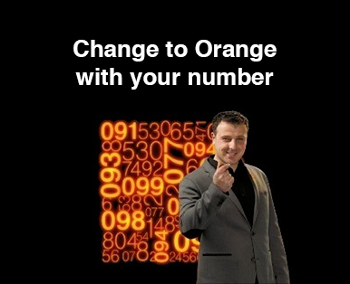 Change to Orange with your number